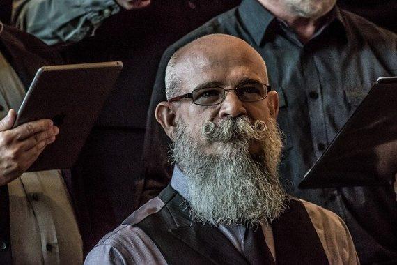 hipster bearded curator